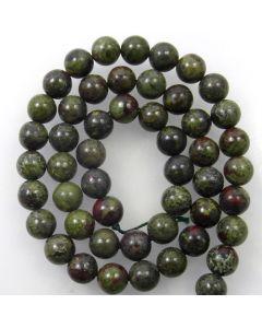 Dragon Vein Jasper 8mm Round Beads