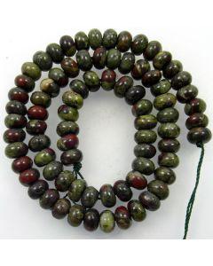 Dragon Vein Jasper 5X8mm Rondelle Beads