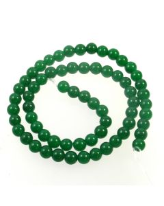 Malay Jade (Dyed Emerald Green Quartzite) 6.5mm Round Beads