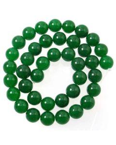 Malay Jade (Dyed Emerald Green Quartzite) 10mm Round Beads