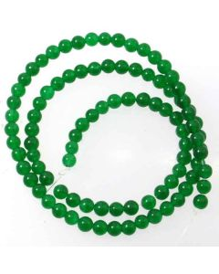 Malay Jade (Dyed Emerald Green Quartzite) 4mm Round Beads