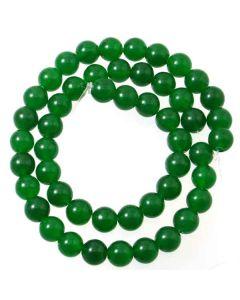 Malay Jade (Dyed Emerald Green Quartzite) 8mm Round Beads