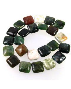 Fancy Jasper 16mm Square Beads