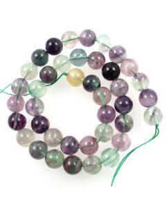 Fluorite 10mm Round Beads