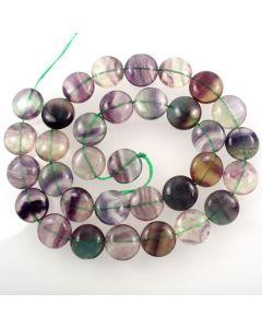 Fluorite 12mm Coin Beads