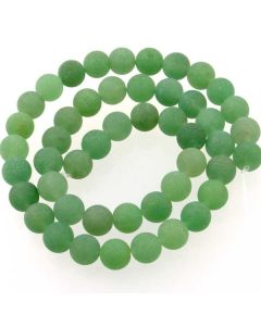 Green Aventurine FROSTED 8mm Round Beads