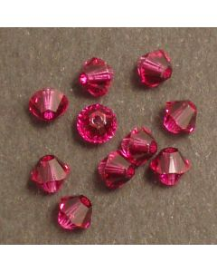 Swarovski® 4mm Fushia Bicone Xilion Cut Beads (Pack of 10)