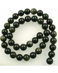 Golden Obsidian 10mm Round Beads