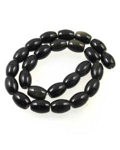 Golden Obsidian 12x16mm Rice Beads