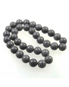 Mashan Jade (Dyed Steel Grey) 12mm Round Beads