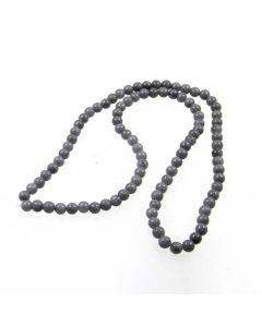 Mashan Jade (Dyed Steel Grey) 4mm Round Beads