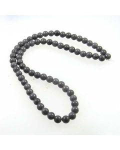 Mashan Jade (Dyed Steel Grey) 6mm Round Beads