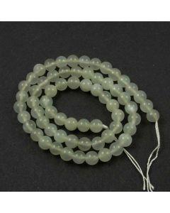 Moonstone Grey 6mm Round Beads