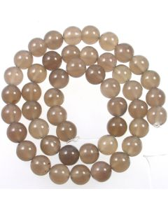 Grey Agate 8mm Round Beads