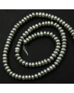 Freshwater Button Pearl Grey - dyed 4-5mm
