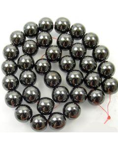Hematite 12mm Round Beads