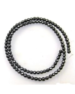 Hematite Faceted 4mm Round Beads