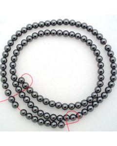 Hematite 4mm Round Beads