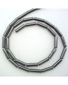 Hematite 4x13mm Tube Beads
