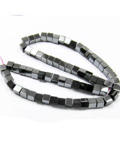Hematite 6mm Cube Beads