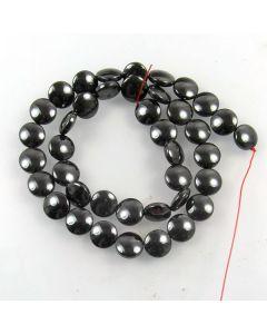 Hematite 10mm Coin Beads