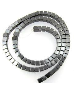 Hematite 4mm Cube Beads