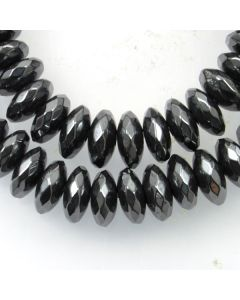 Hematite Faceted 3x8mm Rondelle Beads 2