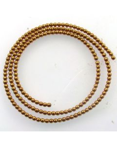 Hematite 2mm Plated Gold Colour Round Beads