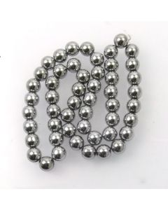 Hematite 8mm Plated Silver Colour Round Beads