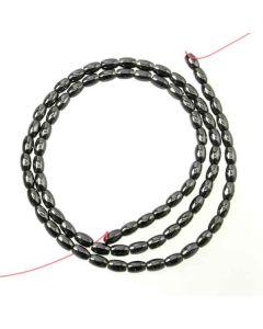 Hematite 3x5mm Rice Beads