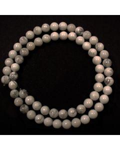 Howlite 6mm Round Beads
