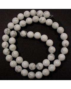 Howlite 8mm Round Beads