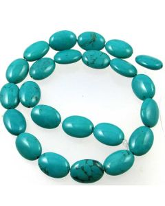 Hubei Province Turquoise (Stabilised) 13x18mm Oval Beads