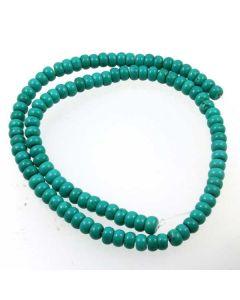 Hubei Province Turquoise (Stabilised) 6mm Rondelle Beads