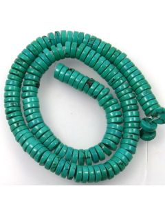Hubei Province Turquoise (Stabilised) 3x7mm Disc Beads