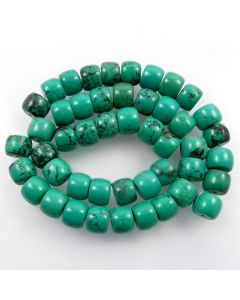 Hubei Province Turquoise (Stabilised) 9x12mm Drum Beads