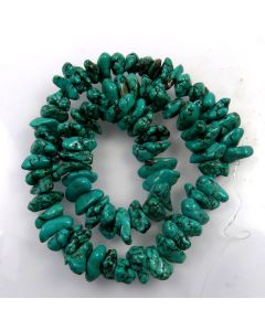 Hubei Province Turquoise (Stabilised) 13x5mm approx. Nugget Beads