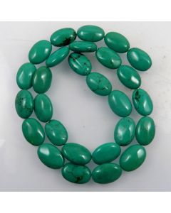 Hubei Province Turquoise (Stabilised) 10x14x6mm Oval Beads