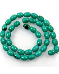 Hubei Province Turquoise (Stabilised) 8x10mm Rice Beads