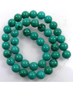 Hubei Province Turquoise (Stabilised) 10mm Round Beads