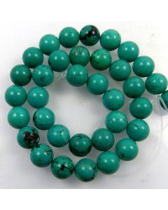 Hubei Province Turquoise (Stabilised) 12mm Round Beads