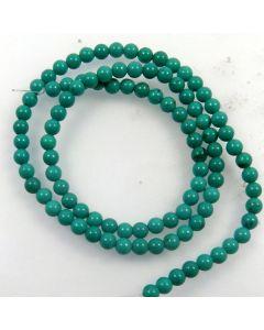 Hubei Province Turquoise (Stabilised) 4mm Round Beads