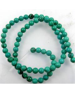 Hubei Province Turquoise (Stabilised) 6mm Round Beads