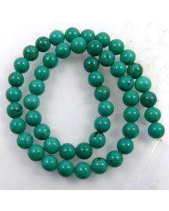 Hubei Province Turquoise (Stabilised) 8mm Round Beads