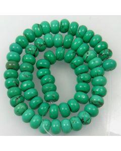 Hubei Province Turquoise (Stabilised) 10x6mm Rondelle Beads