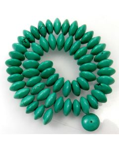 Hubei Province Turquoise (Stabilised) 14x6mm Disc Beads