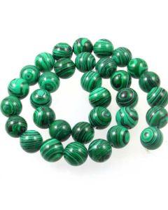 Malachite (Imitation) 12mm Round Beads