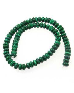 Malachite (Imitation) 5x8mm Rondelle Beads