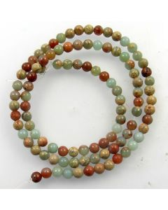 Impression Jasper 4mm Round Beads