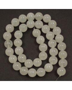 White Jade 10mm Round Beads